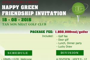 HAPPY GREEN FRIENDSHIP INVITATION